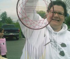 Beaded dream catcher made by Lita Isaac